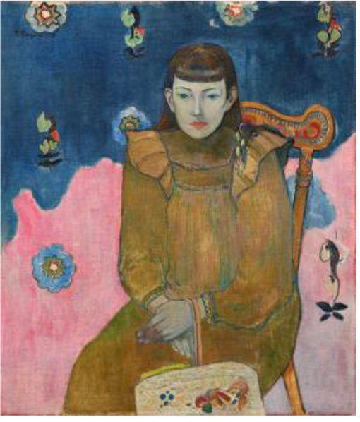 PAUL GAUGUIN Portrait d'une jeune fille, Vaïte (Jeanne) Goupil, 1896 Huile sur toile 75 x 65 Collection Ordrupgård, Copenhague © Anders Sune Berg