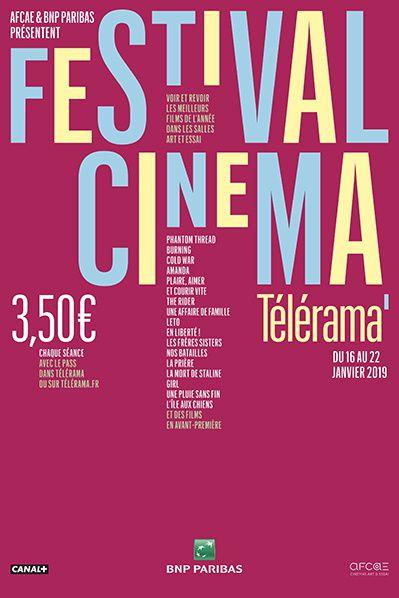 Festival Cinema telerama 2019  Affiche