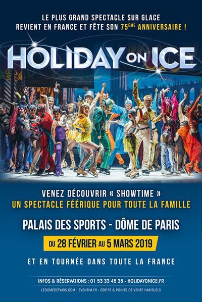 affiche showtime holiday on ice