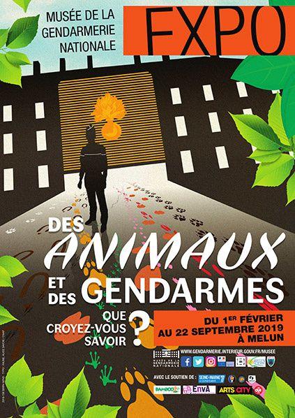 affiche animaux - gendarmerie