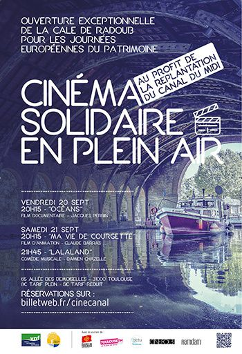 cinema solidaire plein air canal midi