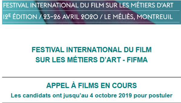 Festival International du Film sur les Métiers d'Art lance son appel à films