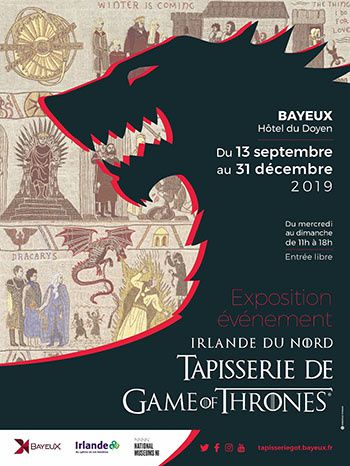 tapisserie Game of Thrones® du Tourisme Irlandais à Bayeux