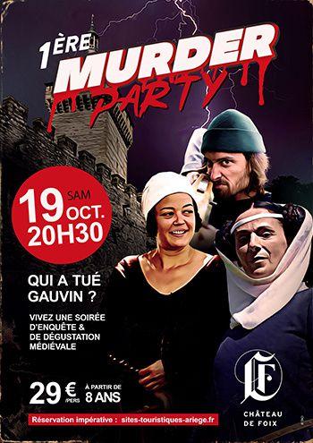 affiche murder party chateau foix