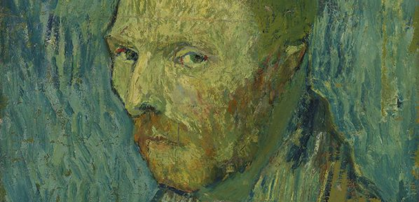 Vincent van Gogh Self-Portrait detail