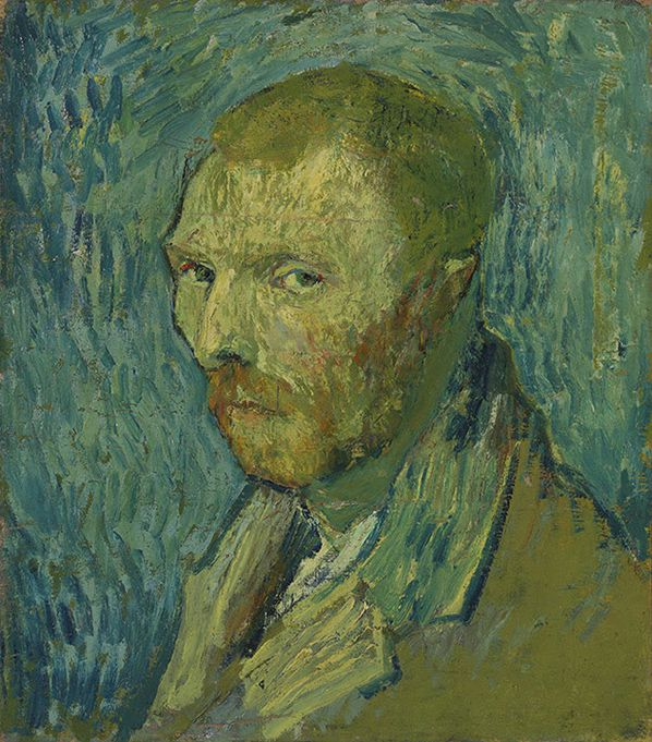 Vincent van Gogh, Self-Portrait, 1889, oil on canvas, 51.5 x 45 cm, Nasjonalmuseet for kunst, arkitektur og design, Oslo