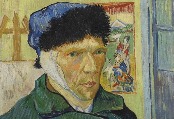 Vincent van Gogh, Self-portrait with Bandaged Ear, 1889, The Samuel Courtauld Trust, The Courtauld Gallery, Londen. On view in the exhibition In the Picture in at the Van Gogh Museum (till 30 August 2020).