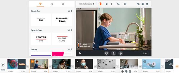 bernieshoot flexclip editeur video gratuit interface
