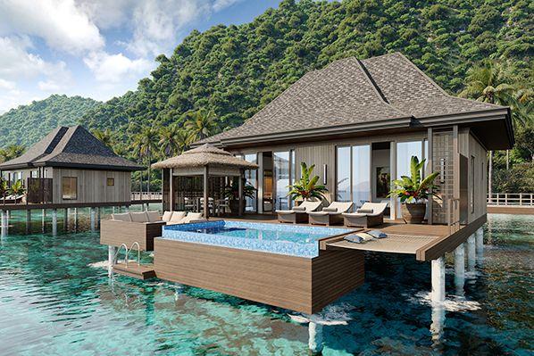 El Nido Beach Spa & Resort over-water suite exterior  bernieshoot