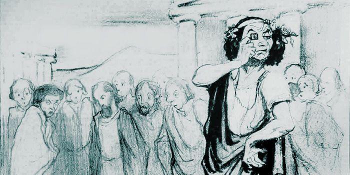 Honoré Daumier (1808-1879), La jeunesse d'Alcibiade, 1842 (détail)