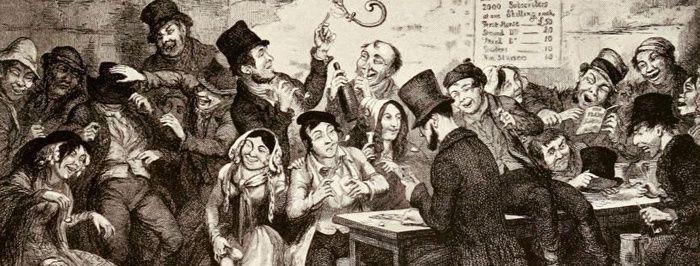 George Cruikshank (1792-1878), « les enfants de l'ivrognerie », planche n° 2, détail