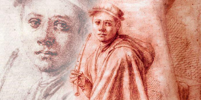 Jacopo da Pontormo (1494-1557), Joueur de cornet, détails