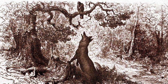 Gustave Doré (1832-1883), le corbeau et le renard
