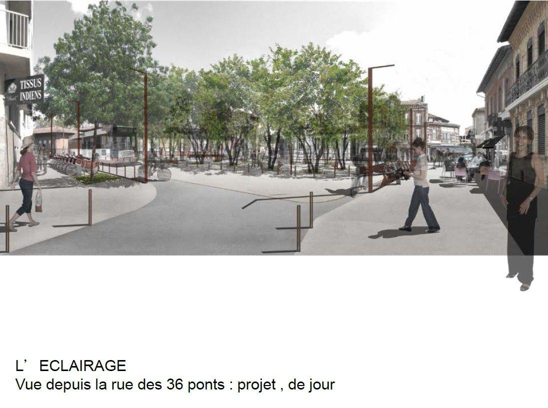 Projet d'aménagement de la place du Busca