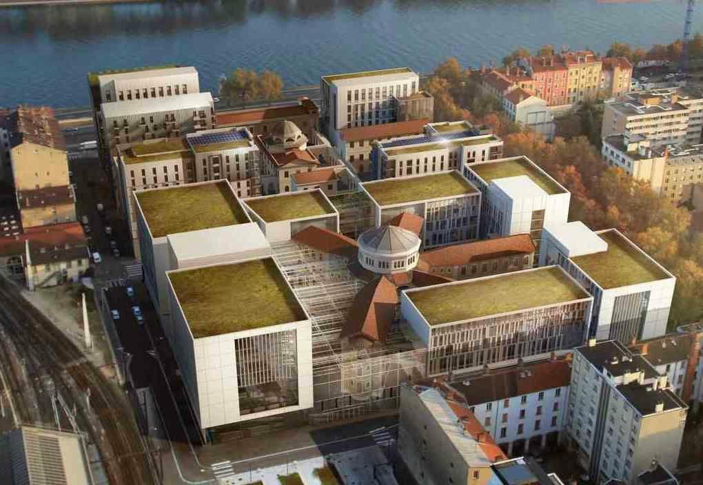 Image de synthèse du projet immobilier prévu dans le cadre de la reconversion de la prison Saint-Joseph à Lyon
