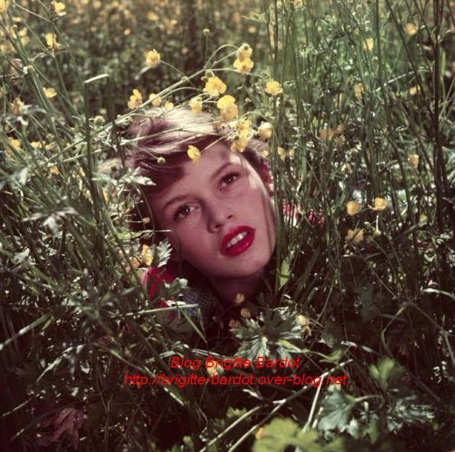 Brigitte Bardot en 1952 par Walter Carone...