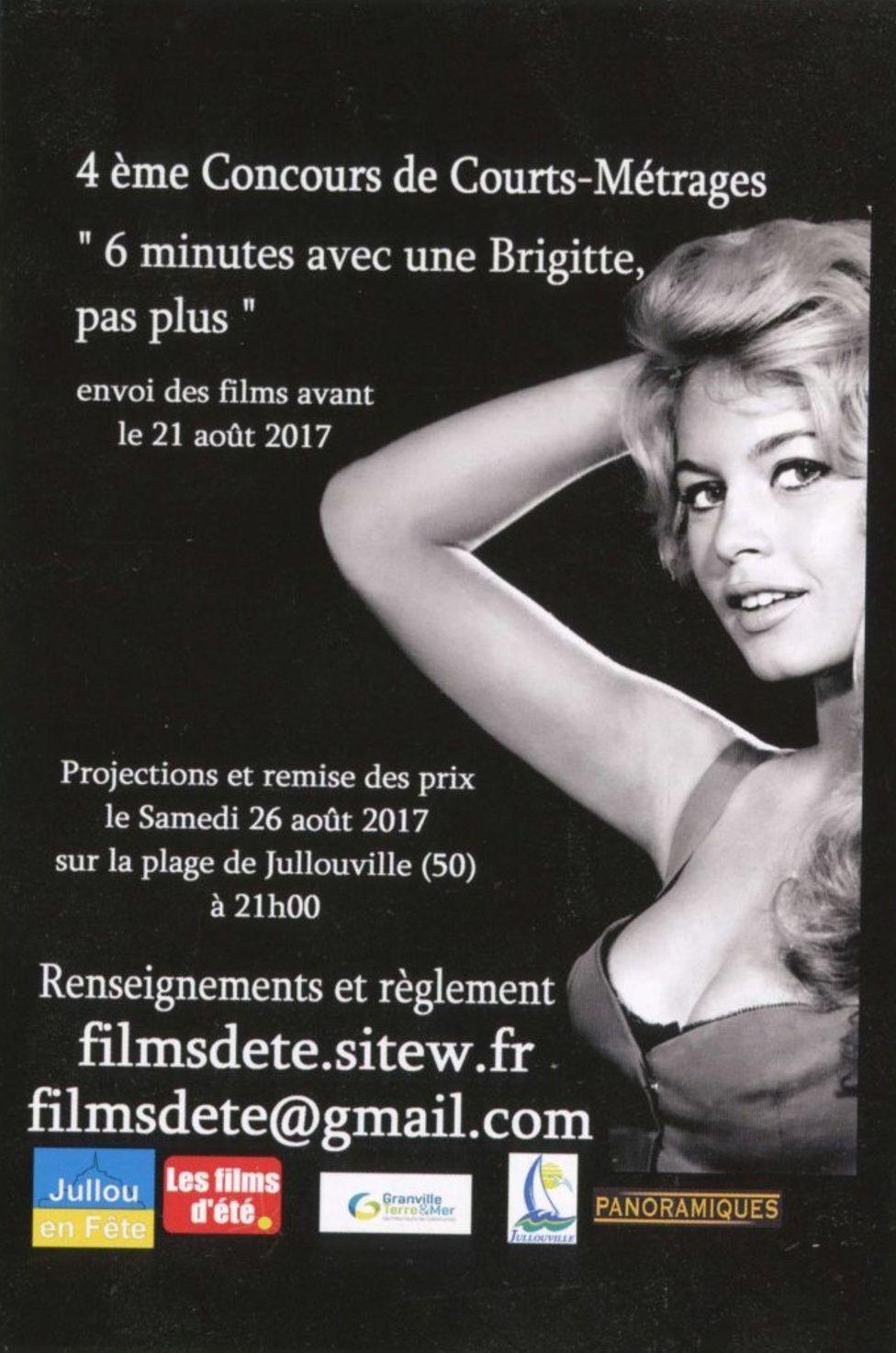 """Brigitte Bardot : 4ème Concours """"de courts-Métrage""""...""""6 minutes avec une Brigitte...pas plus"""".."""