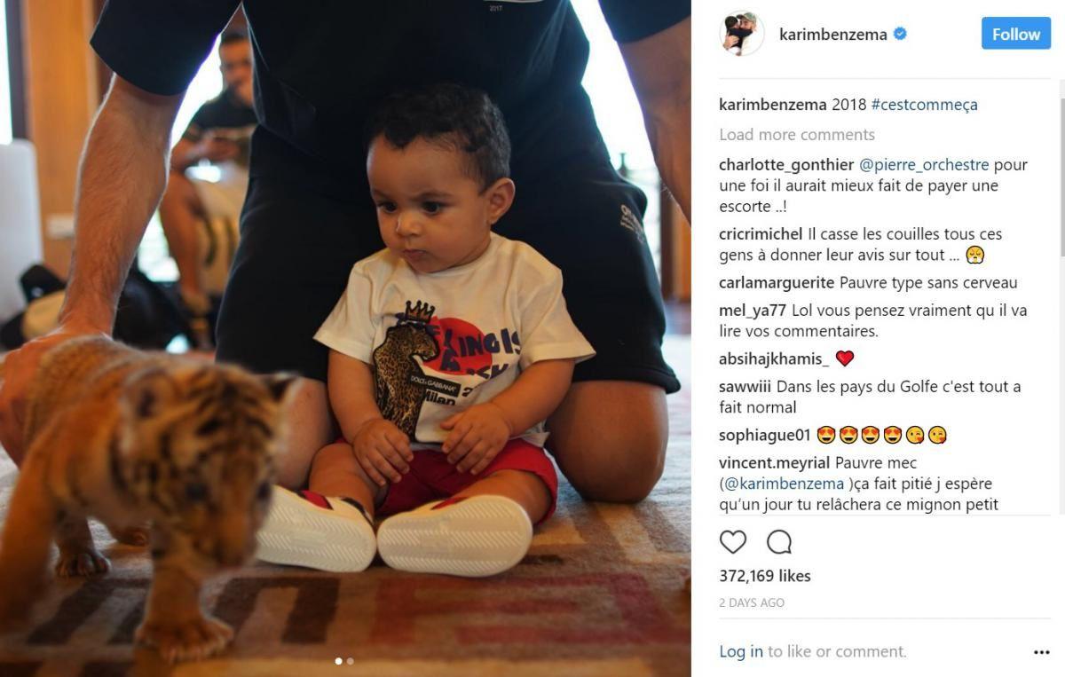 La famille de Karim Benzema posant avec un bébé tigre déclenche la colère des internautes et même de Laurence Parisot !