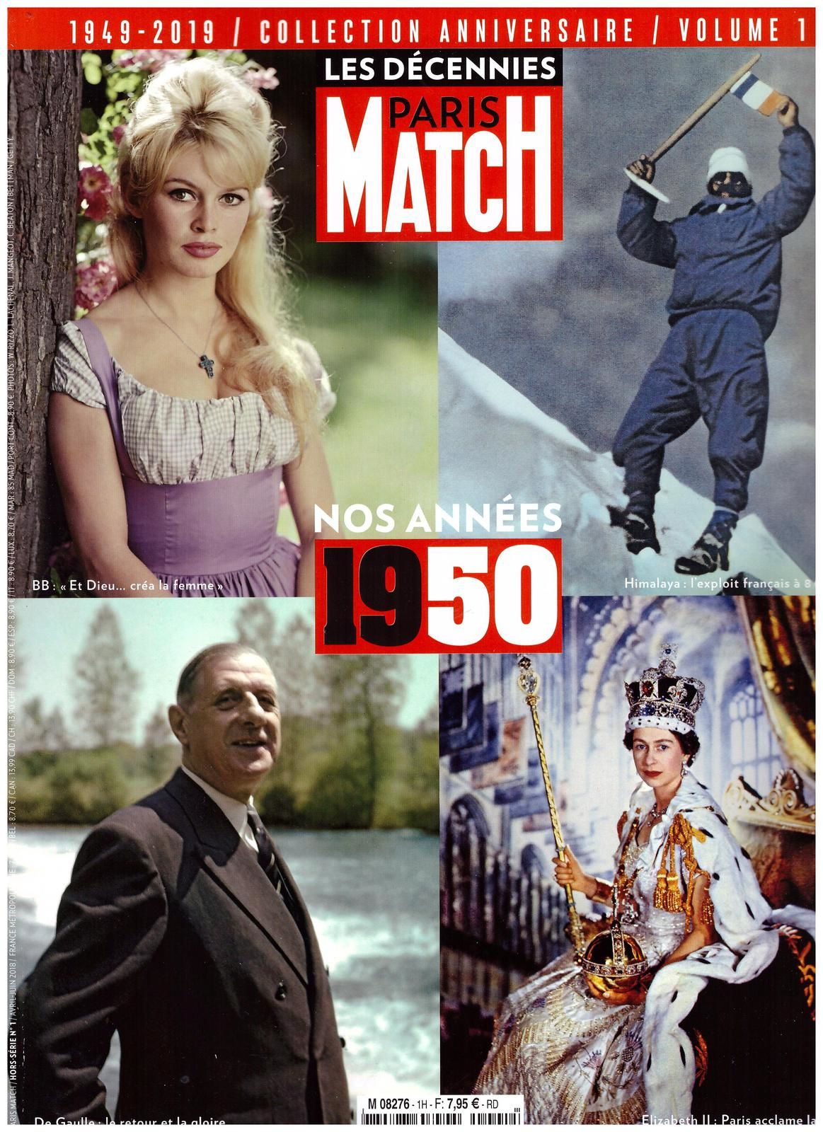 Les décennies Paris Match 1950 (Mars 2018)