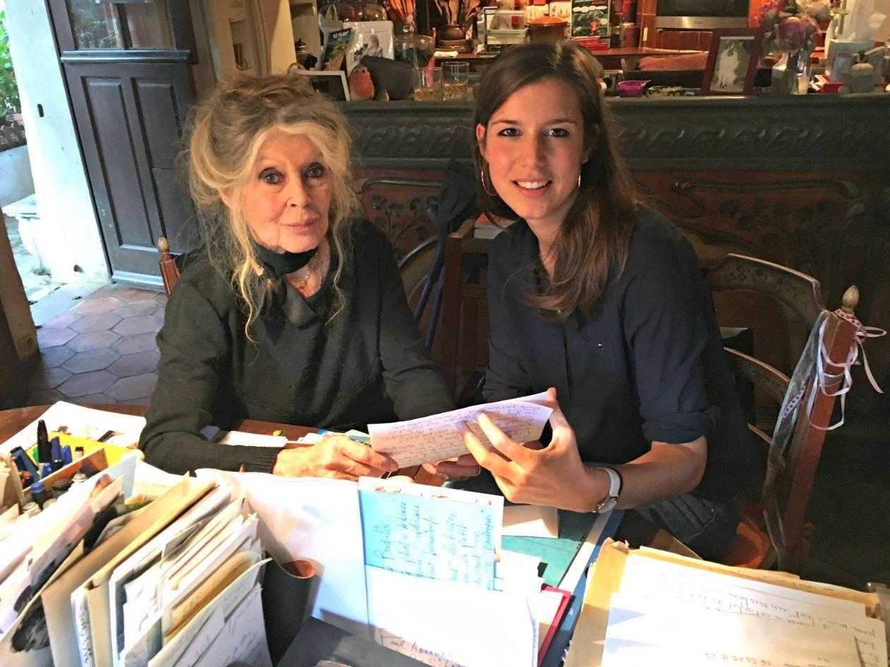 Brigitte Bardot et Anne-Cécile Huprelle...