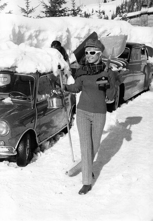 Flash-back  12 clichés rares de Brigitte Bardot au ski
