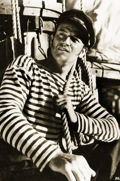 "John Wayne en marinière dans ""Adventure's End"""