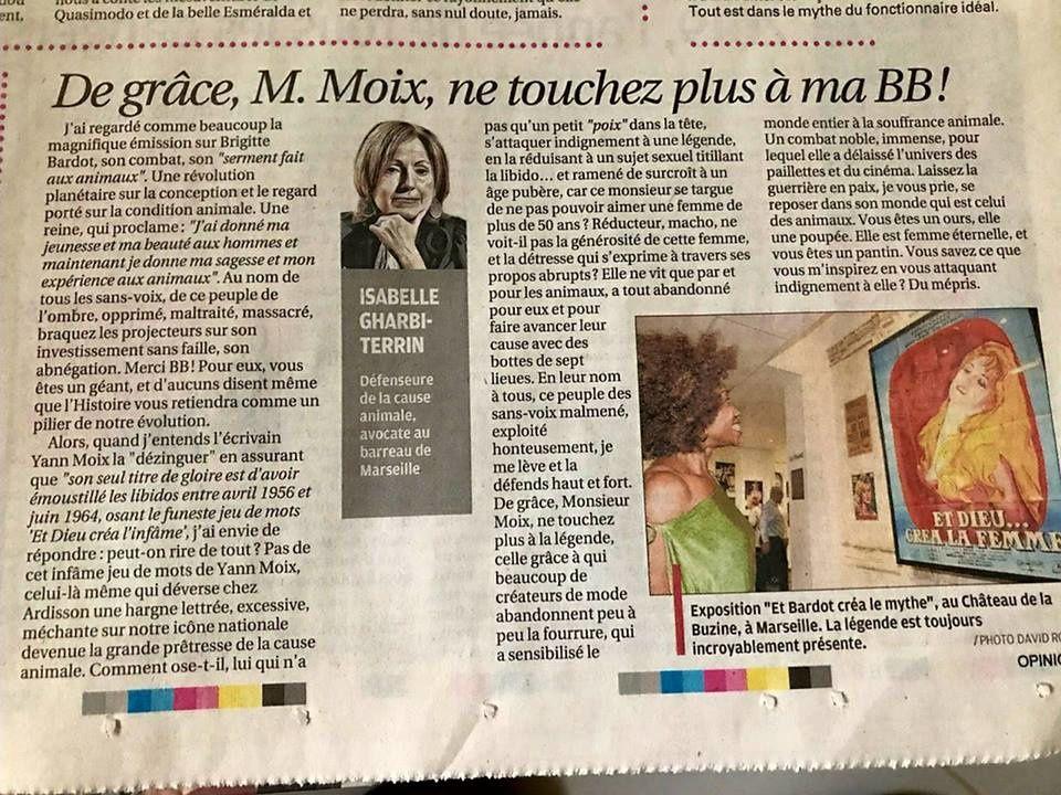 Brigitte Bardot pour tout ce peuple de l'ombre...