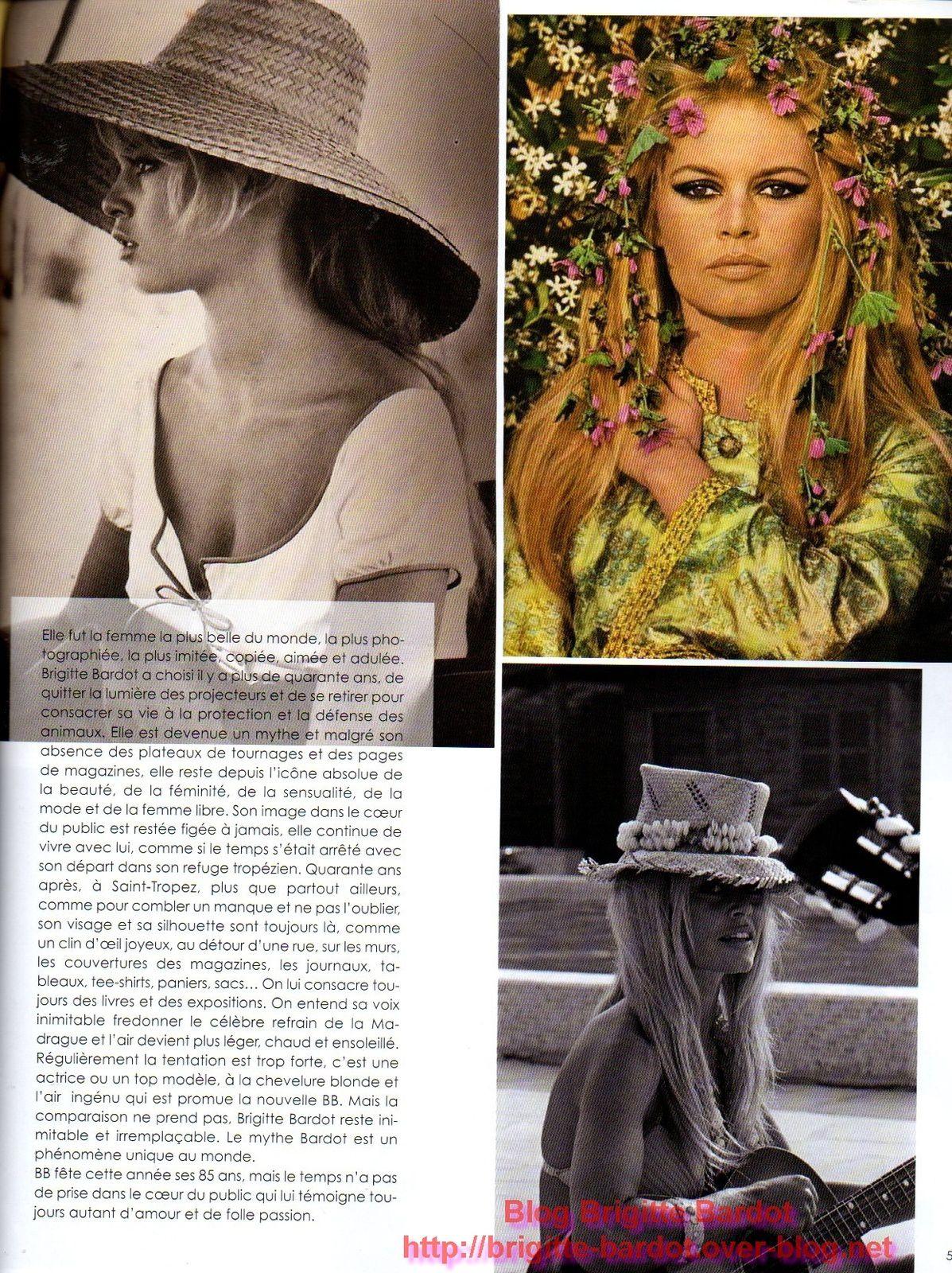 Vivre Saint-Tropez Brigitte Bardot en couverture