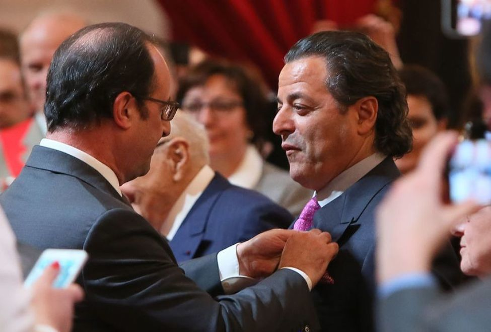 Remise de la Légion d'honneur à Chico Bouchikhi, en 2016. Photo François Lafite.