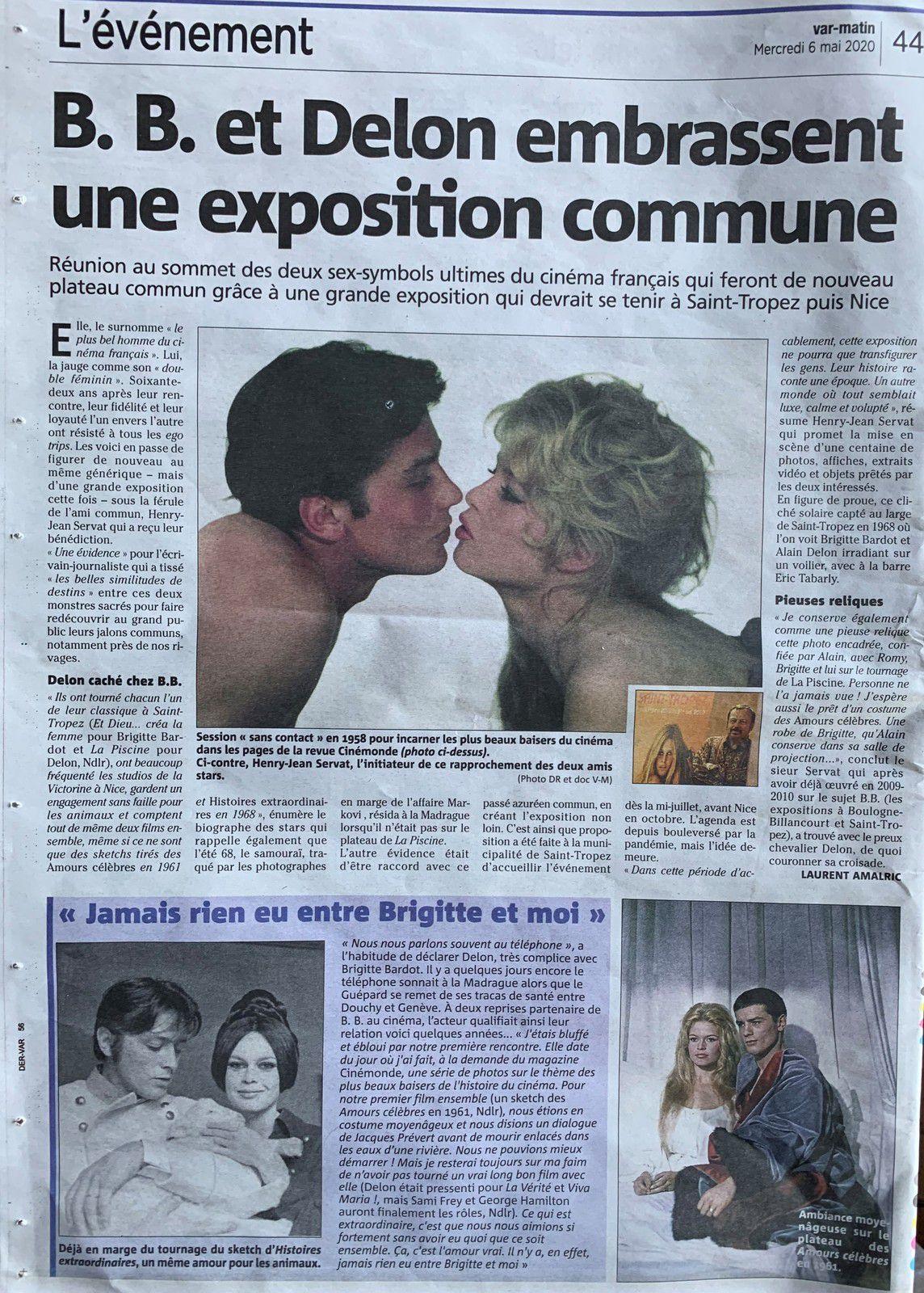 Exposition Brigitte Bardot et Alain Delon