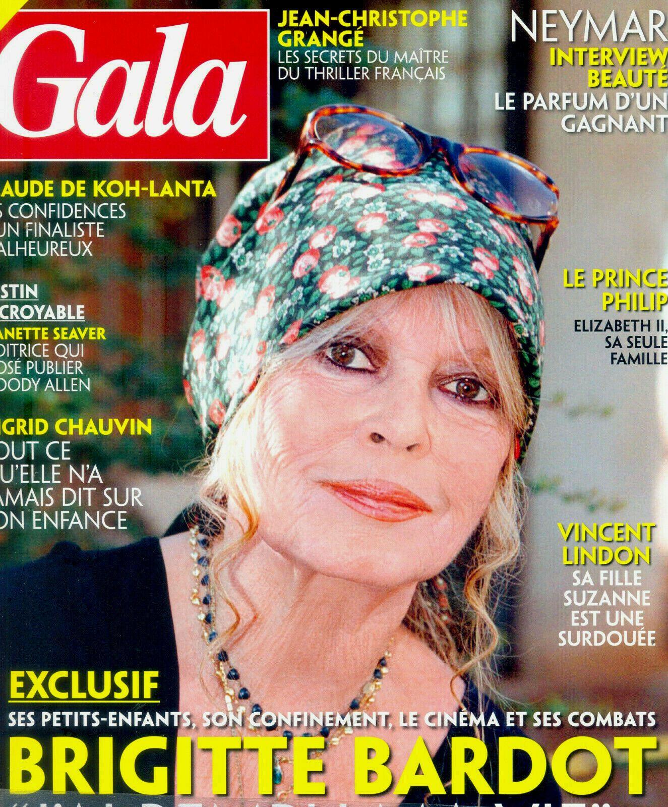 Brigitte Bardot en couverture de Gala!