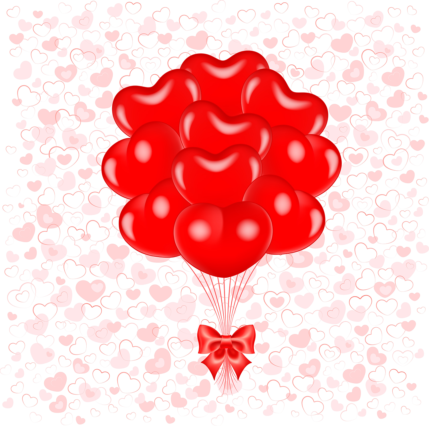 Sweet ,heart,clipart,valentine,day,saint,valentin,png,cœur,amour,love,red,pink,gold,cupid,cupidon,cluster,png,diamond,rainbow,color,balloon,ballon,