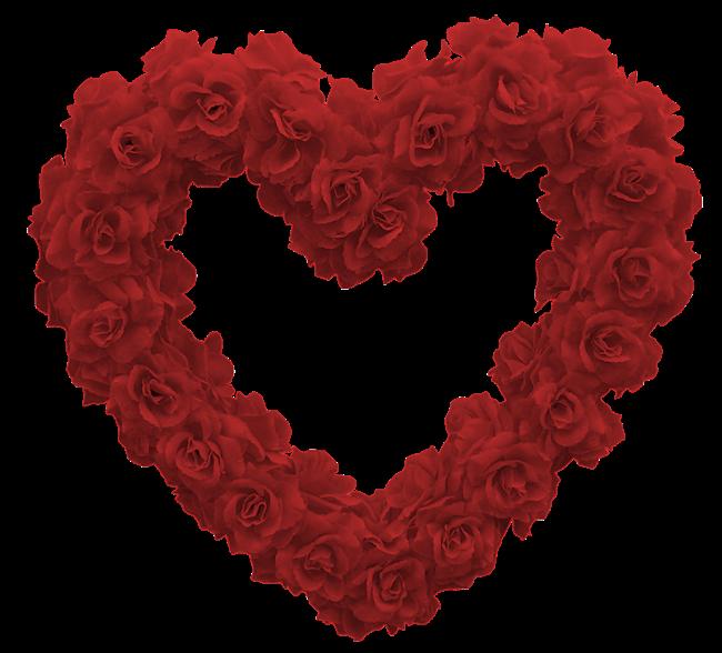 Saint-Valentin Dites-le avec le cœur de roses rouges ! Valentine's Day Say it with the Heart of red roses !
