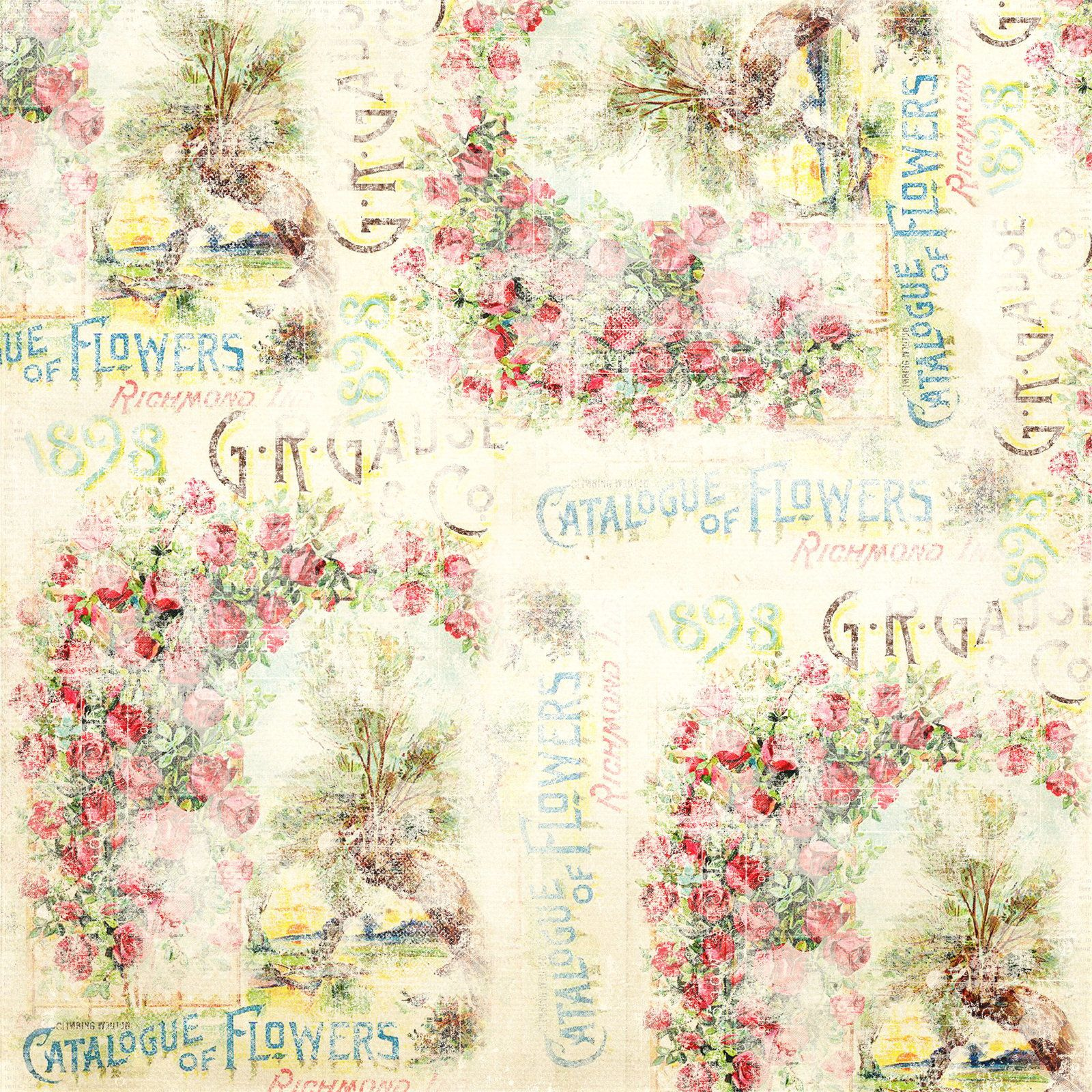 Jardin des roses (Textures) - Garden of roses  (Papers)