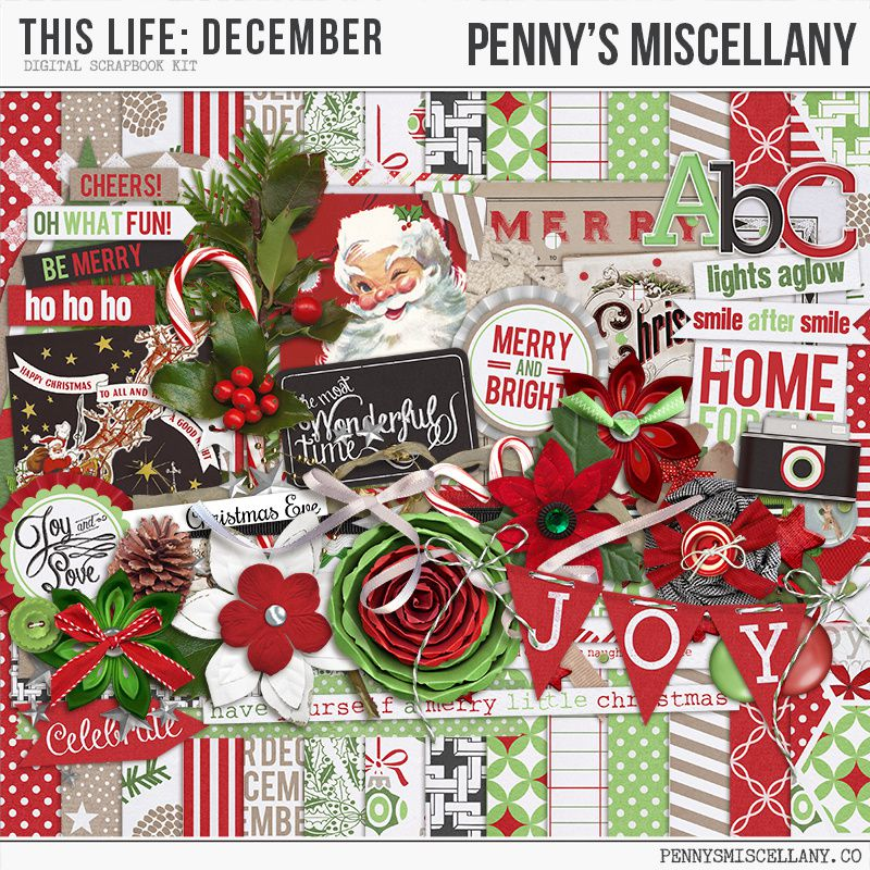 """This life """"december-Merry Christmas"""" by Penny's Miscellany (Elements)"""