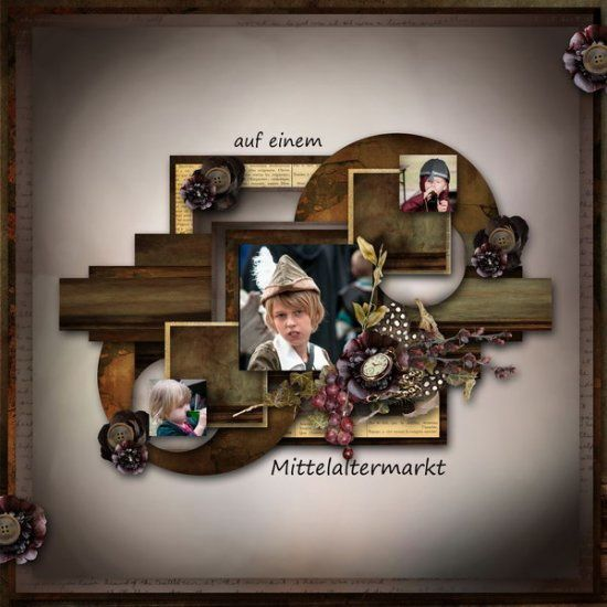 Kit de scrapbooking : Vie antique (Antic life)