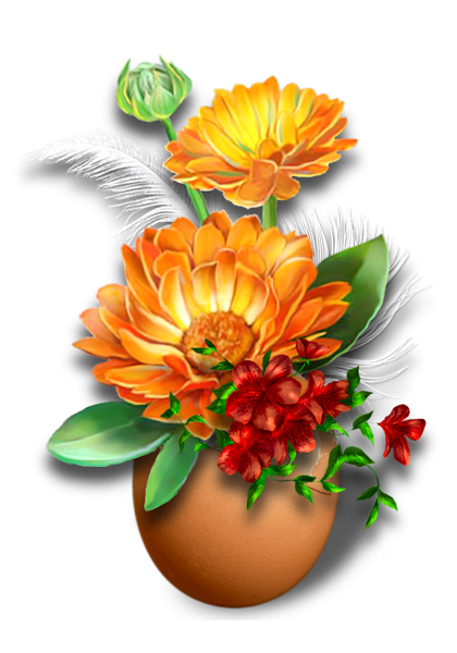 Fleurs : Clipart en png - glaïeul, lis, pensées, roses et autres fleurs d'intérieur
