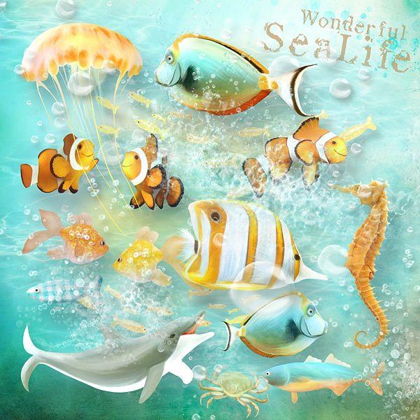 """Kit de scrapbooking """"Sea Whistle - Sifflet de mer"""" (Pages inspirations)"""