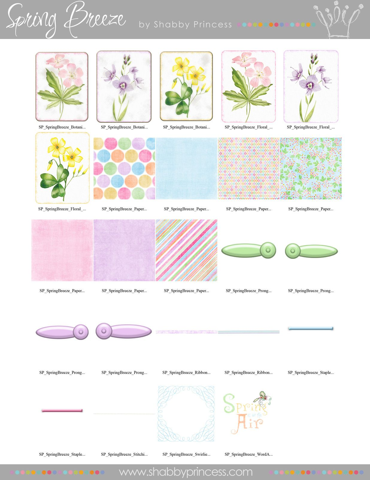 Spring Breeze (Embellishments and Papers)