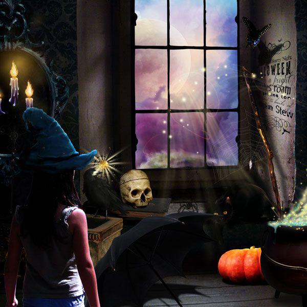 "Kit scrapbooking thème ""Halloween"" en téléchargement"