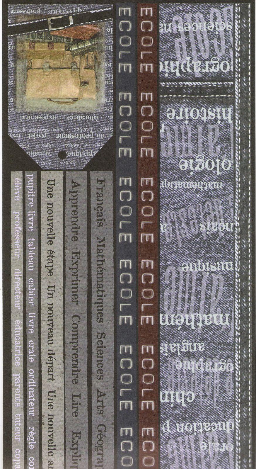 Les différentes textures avec nom