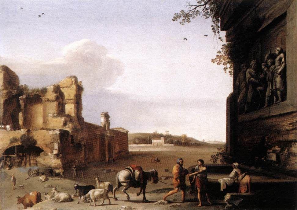 Œuvres d'art du peintre de paysage néerlandais Provinces-unies du siècle d'orCornelis van Poelenburgh