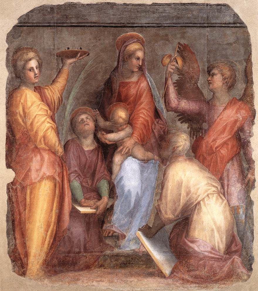 Œuvres d'art du peintre italien de l'école florentine Jacopo da Pontormo ou plus simplement le Pontormo