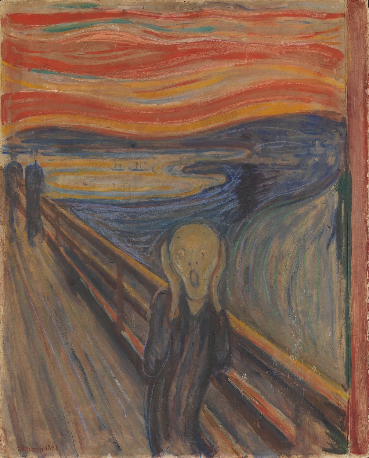 Edvard Munch, 1893, The Scream, oil, tempera and pastel on cardboard, 91 x 73 cm, National Gallery of Norway