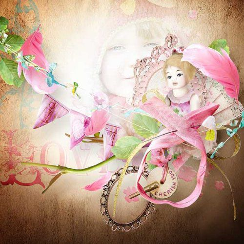 Pages de scrapbooking style Shabby Chic Inspirations