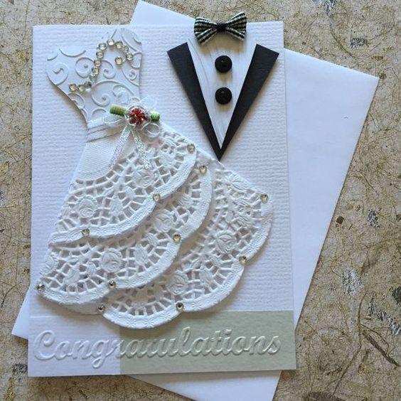 inspirations, cartes de mariage, cartes de mariage à la main, Handmade Wedding Cards,