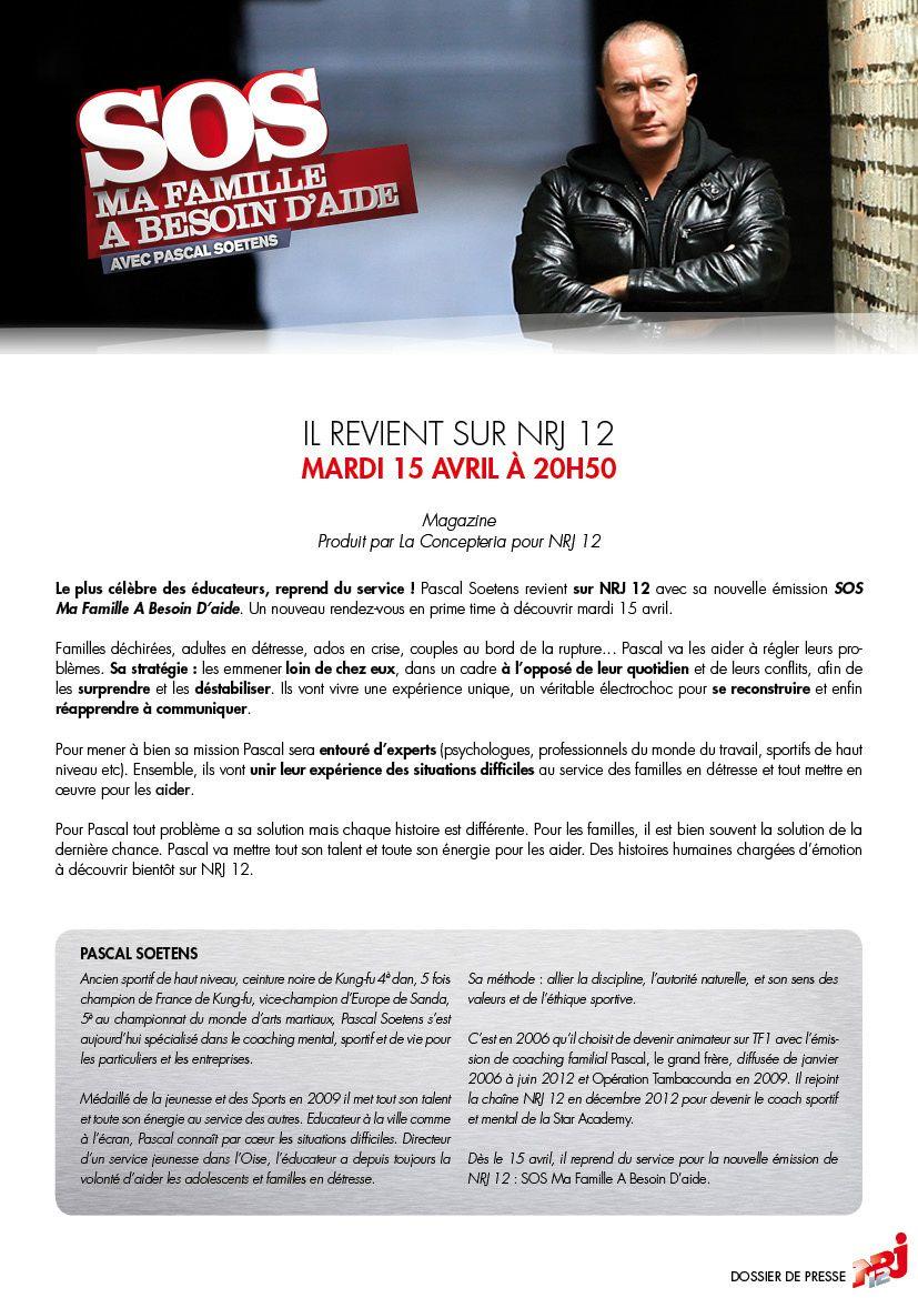 Pascal Soetens reprend du service sur NRJ12 le 15 avril.