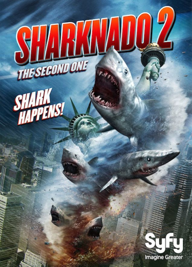 Diffusion du nanar Sharknado 2, jour J.