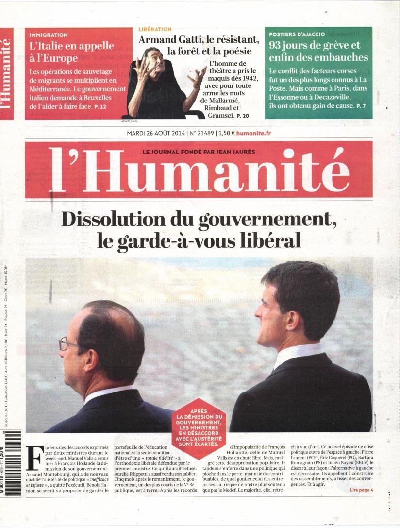 Nouveau gouvernement : La Une de la presse nationale.