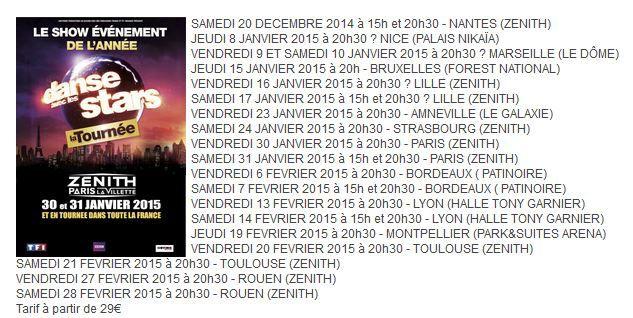 Alizée confirme sa présence à la 2nde tournée Danse avec les stars.